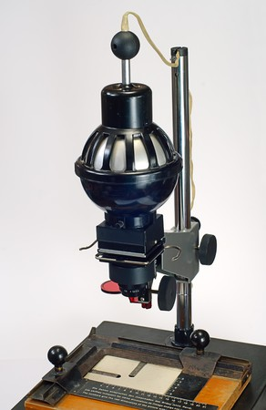 enlarger: Old photo enlarger for making black and white photos Stock Photo