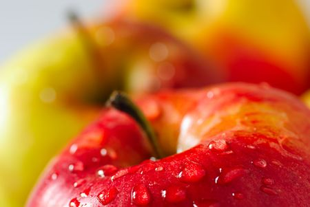 fresh apple with drop dew Stock Photo - 4701063