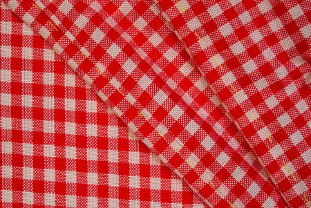Detailed red picnic cloth for design Stock Photo - 6047526