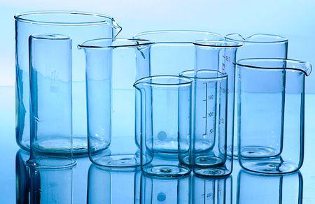 test probe: vetro set completo di attrezzature di laboratorio per la ricerca scientifica  Archivio Fotografico