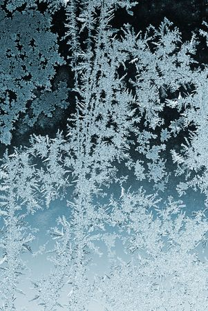 Frosty pattern on window glass in winter Stock Photo - 6125885