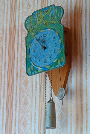 retro  Clock  With Hanging Weights and pendulum Stock Photo - 15820377