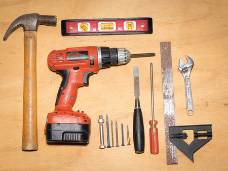 A collection of hand tools to do it yourself.