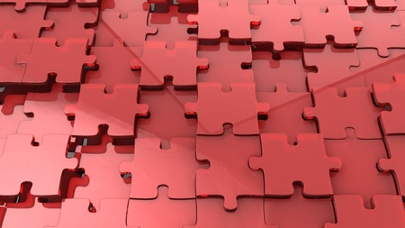 complete solution: 3d jigsaw puzzle background Stock Photo