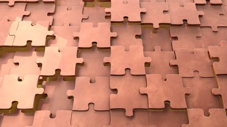 copper background: Copper background 3d puzzle