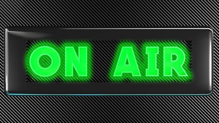 radio beams: onair green sign