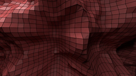 plexus: Nice 3d abstract red plastic plexus background