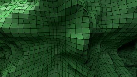 plexus: Nice 3d abstract green plastic background plexus