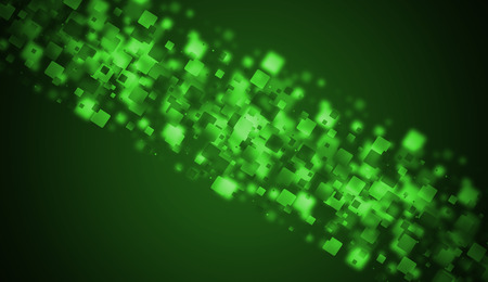 green square background glow