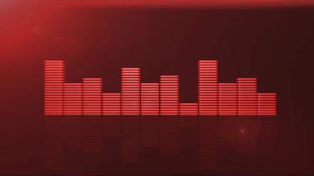Red equalizer bars 3d render Stock Photo