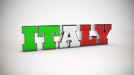 3d render: Italy 3d render text