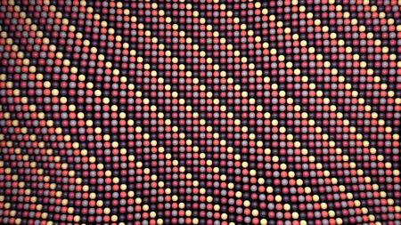 3d render: Multicolor spheres flat plane background 3d render