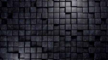 3d render: blue marble material cubes background 3d render