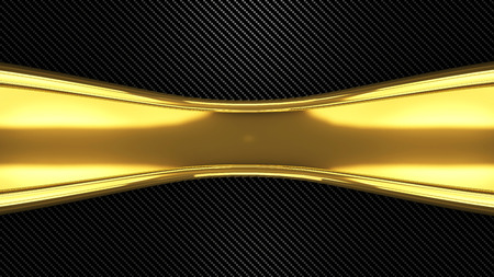 gold and carbon 3d render concept background.industrial Stock Photo