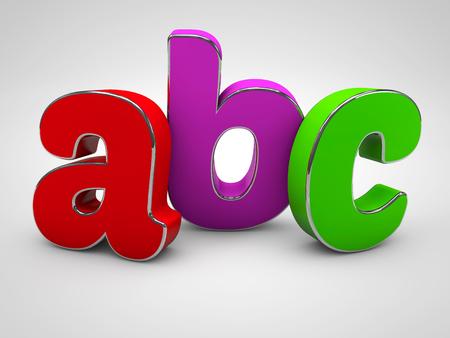 ABC colored alphabet letters Stock Photo