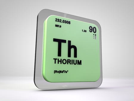 thorium: Thorium - Th - chemical element periodic table 3d render