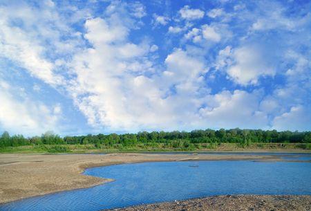 river Belaya, Ufa, Bashkortostan, Russia