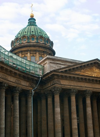 Kazan Cathedral against blue sky. St. Petersburg, Russia.  Stock Photo - 7401918