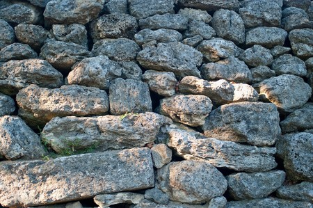 Stone wall background. The texture, closeup Stock Photo - 7469022