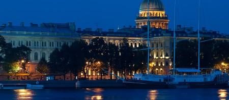 Old sail yacht in Saint-Petersburg at night. Shallow DOF Stock Photo - 7510777