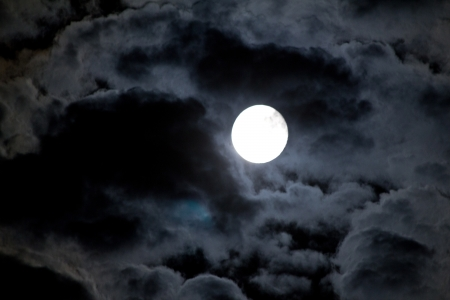 The night sky with moon and cloud. Natural abstract background.