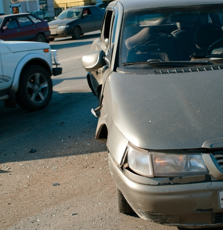 The car accident on street of Ufa city