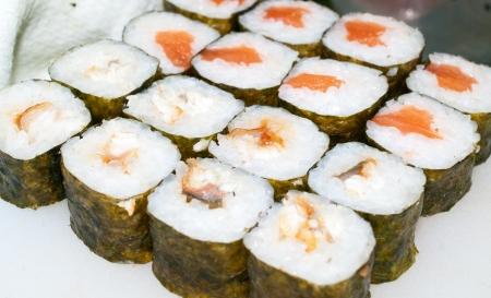 The Japanese sushi set. Shallow DOF  Stock Photo