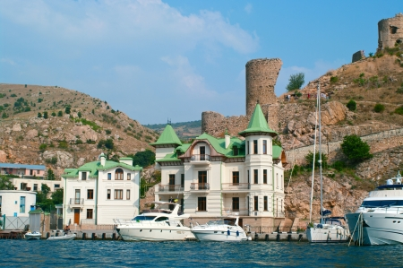 Genoese Fortress Cembalo. Balaklava. Crimea. Ukraine.