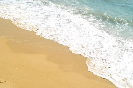 The beach and sea wave. The natural background