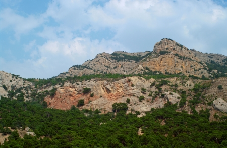 Mountains of Crimea in Ukraine tops of the mountains against the sky  Stock Photo