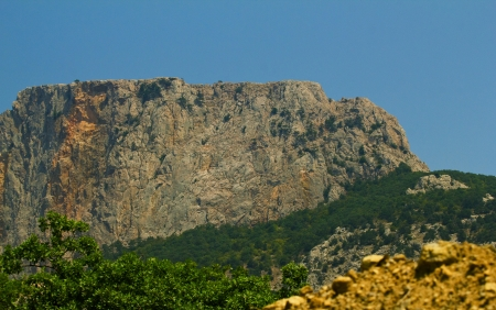 Mountains of Crimea in Ukraine tops of the mountains against the sky Reklamní fotografie