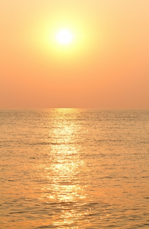 The beauty landscape with sunrise over sea. Shallow DOF