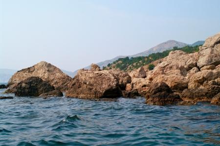 Black sea and rocks in Crimea, Ukraine