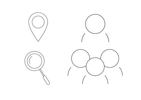 coordinated: Social minimal icon set