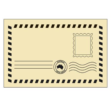 poststempel: Retro envelopewith Platz für Stempel Illustration