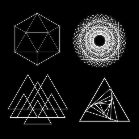 Gloeiende geometrische vormen