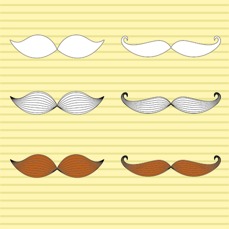 mustaches: Retro vector mustaches set