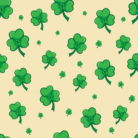 cloverleaf: Seamless pattern made from cloverleaf, Shamrock pattern, seamless pattern for Saint Patrick day Illustration