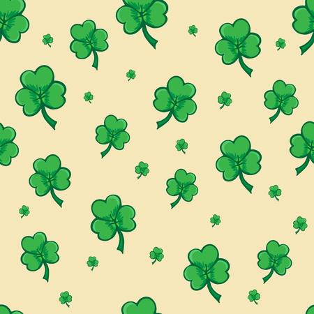 cloverleaf: Shamrock pattern, seamless pattern for Saint Patrick day, Seamless pattern made from cloverleaf