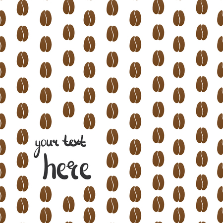text area: Vector coffee beans background collection with text area.