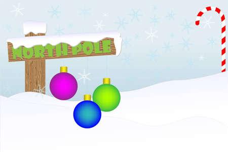 North Pole christmas backround Illustration