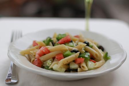 Greek pasta salad Banque d'images