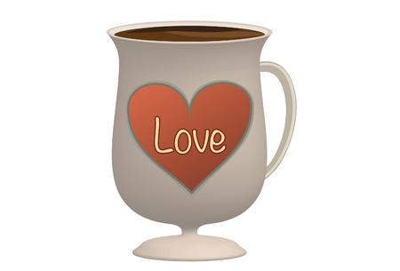 Love coffee cup