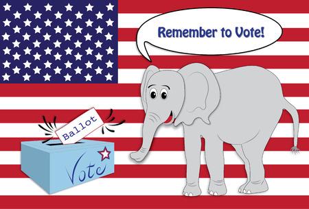 remember: Recuerde que para votar Foto de archivo