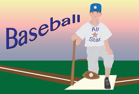 ballplayer: Young baseball player