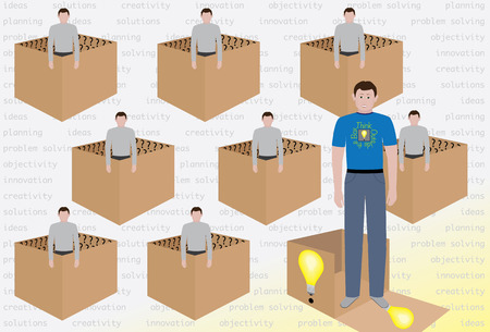 outside the box: Think Outside the Box Stock Photo