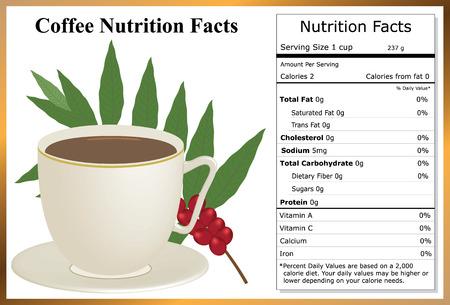 Coffee Nutrition Facts Illusztráció