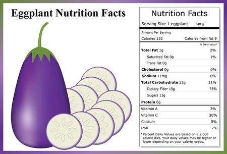 Aubergine Nutrition Facts Stock Illustratie