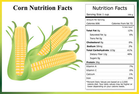 Corn Nutrition Facts Çizim