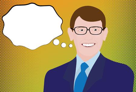 Halftone Businessman Comic